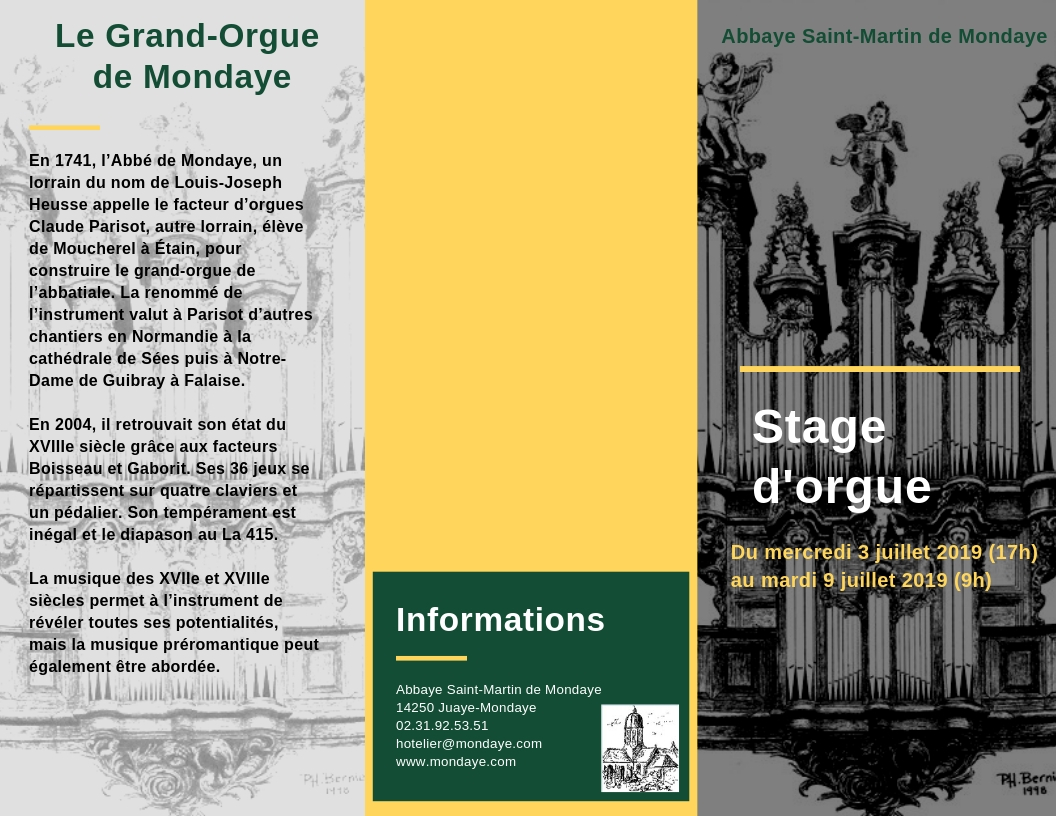 Stage Orgue Mondaye Tract 2019 recto